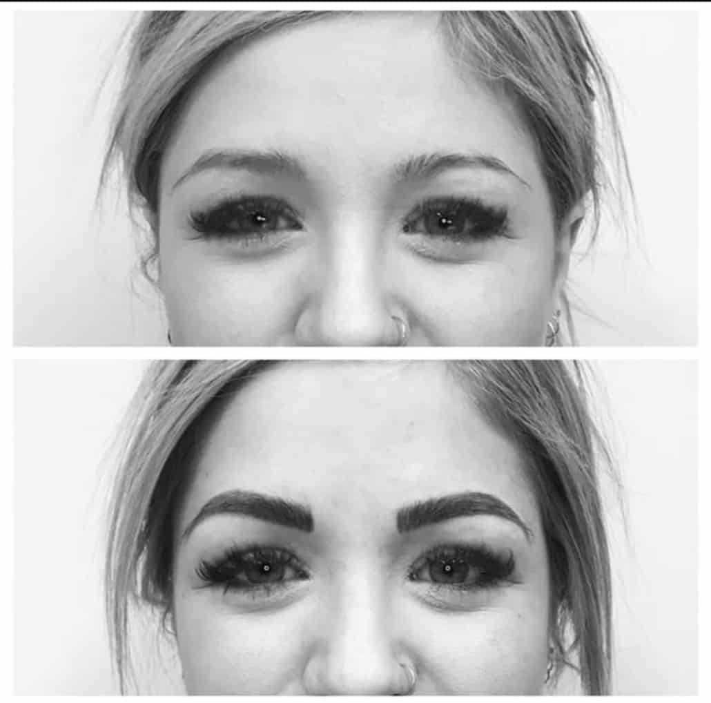 Microblading Before & After in Black & White