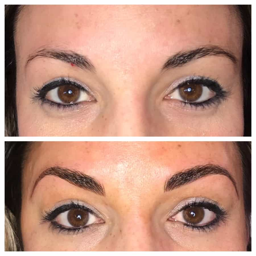 Beautifully defined eyebrow arches